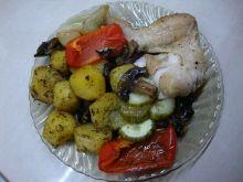 Przepis na kurczaka w całości w warzywami