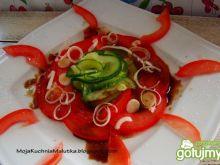 Przystawka z cukinii i pomidorów