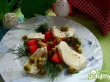 Przystawka z groszku i mozzarelli