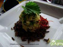 Przystawka z ryżu i awokado