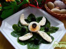 Przystawka z szpinaku i mozzarelli