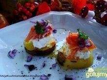 Przystawka z ziemniaków i łososia