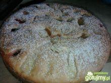 Pseudo - torcik śliwkowo - jabłkowy