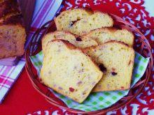 Pszenno-kukurydziany chleb z żurawiną