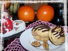 Ptysie czekoladowo-orzechowe z mandarynką