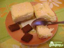 Puchowy sernik na ciastkach