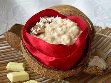 Pudding ryżowo-kokosowy z białą czekoladą