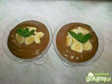 Puding czekoladowy z bananami