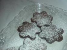 Pudrowe ciasteczka kakaowe