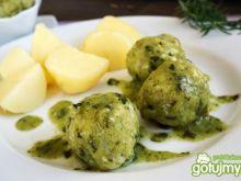 Pulpeciki rybne z zielonym sosem