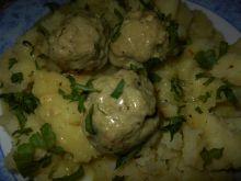 Pulpeciki w sosie z wasabi