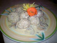 Pulpety w sosie pieczarkowo-koperkowym
