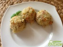 Puree ziemniaczane z boczkiem i marchewk