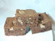 'Puszyste' brownie z masłem orzechowym