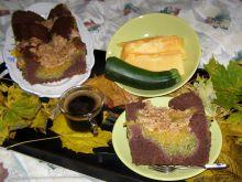 Pyszne ciasto z fasoli czarnej z dynią cukinią