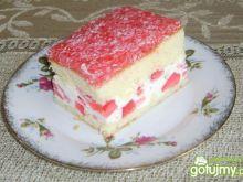 Pyszne ciasto z galaretką