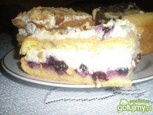 Pyszne ciasto z jagodami