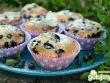 Pyszne muffinki z jagodami