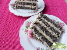 Pyszny tort makowy z kokosową masą