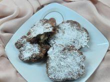 Racuchy budyniowo-kakaowe z gruszką