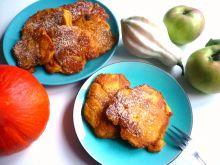 Racuchy dyniowo-pomarańczowe z jabłkami