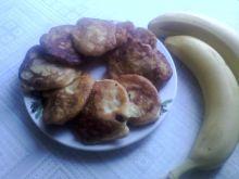 Racuchy z bananami, otrębami owsianymi i lnem