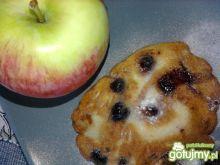 Racuchy z jabłkami i borówkami