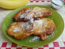 Racuszki miodowe z bananami