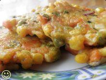 Racuszki z surimi i warzywami.