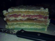 Rainbow Cake Tort Urodzinowy
