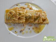 Ravioli z pieczonym bakłażanem i Lazurem