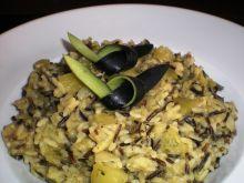Risotto z cukinią i dzikim ryżem