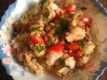 Risotto z kurczakiem i papryką