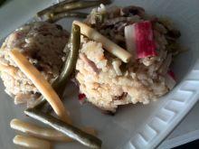 Risotto z paluszkami surimi