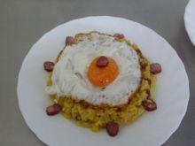 risotto z sadzonym jajkiem