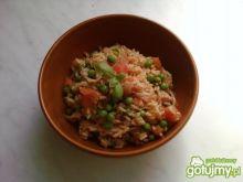 Risotto z szynką, groszkiem i pomidorami
