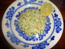 Risotto z wędzonym łososiem i koprem