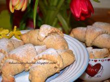 Rogaliki, razowe z jabłkami i cynamonem