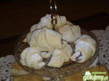 Rogaliki z drożdżowe z kremem czekoladow