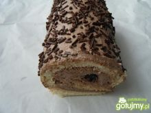 Rolada biszkoptowa z kremem kakaowym