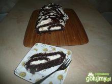 rolada czekoladowo- kokosowa