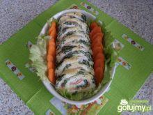Rolada jajeczno-szpinakowa z łososiem