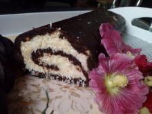 Rolada kakaowo-kokosowa bez pieczenia