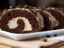 Rolada kawowo-czekoladowa