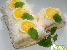 Rolada kokosowo-cytrynowa