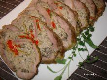 Rolada mięsna z papryką i grzybami