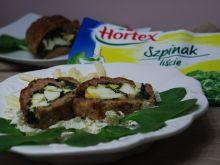 Rolada mięsna ze szpinakiem, fetą i jajkiem