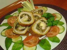 Rolada schabowa z porem, pieczarkami i mozzarellą