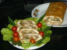 Rolada serowa  z pieczarkami