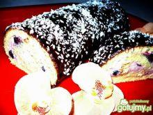 Rolada śmietanowo jagodowa